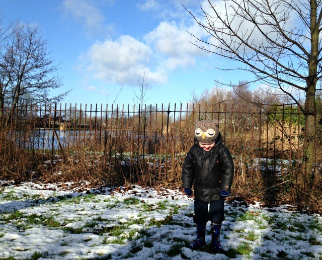 School Walk Snow