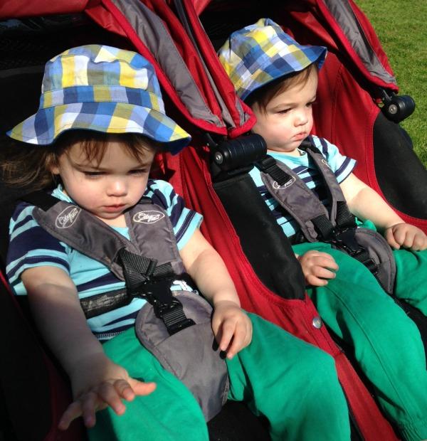 School Walk Twins