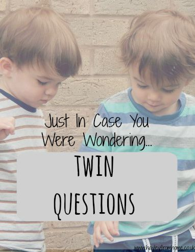 Twin Questions - The answers you've always wanted to know about raising twins.