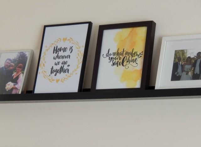Prints on Picture Ledge